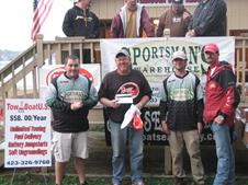 2010 CBA Classic, took fifth overall and big bass day 2.