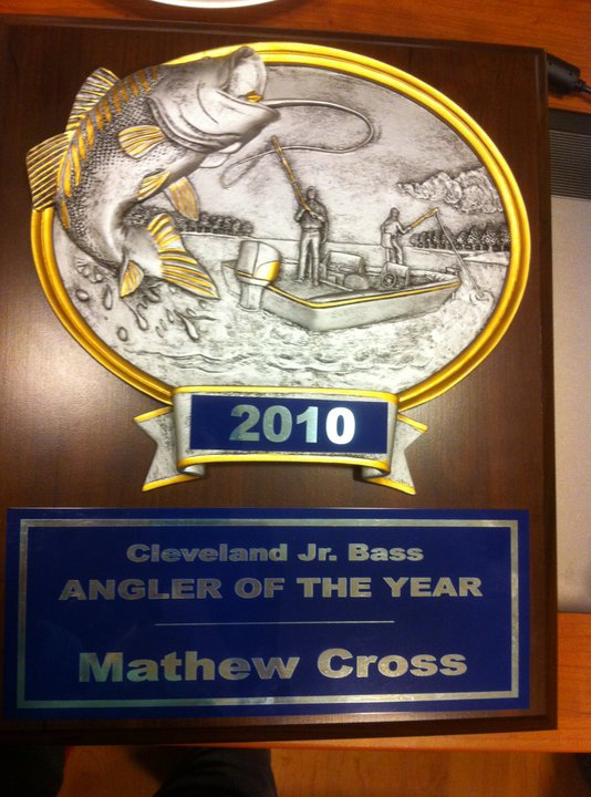 ANGLER OF THE YEAR!! Cleveland jr bass club