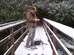 who said it gets to cold to fish