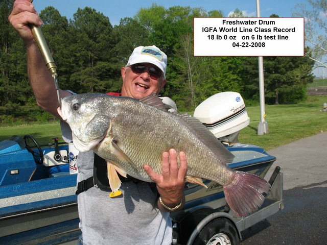 World Line Class record (6# line) freshwater drum